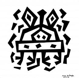 Oorspronkelijke tekeningen in zwarte viltstift op papier